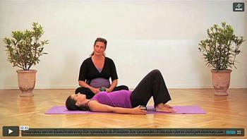 Massage med grønne mini bolde
