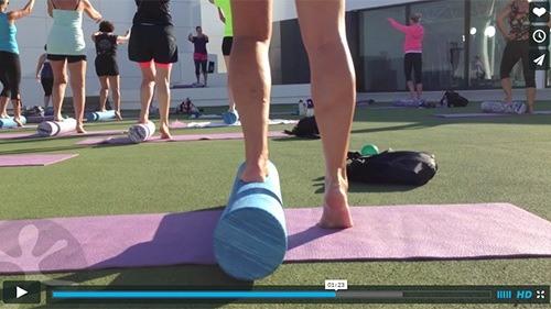 Balance og ben med foam roller
