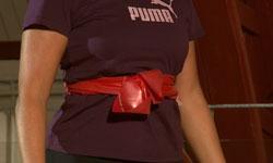 Paraplyen - åndedrætsøvelse med elastik