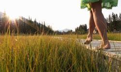 Gå eller løb - måske barfodet