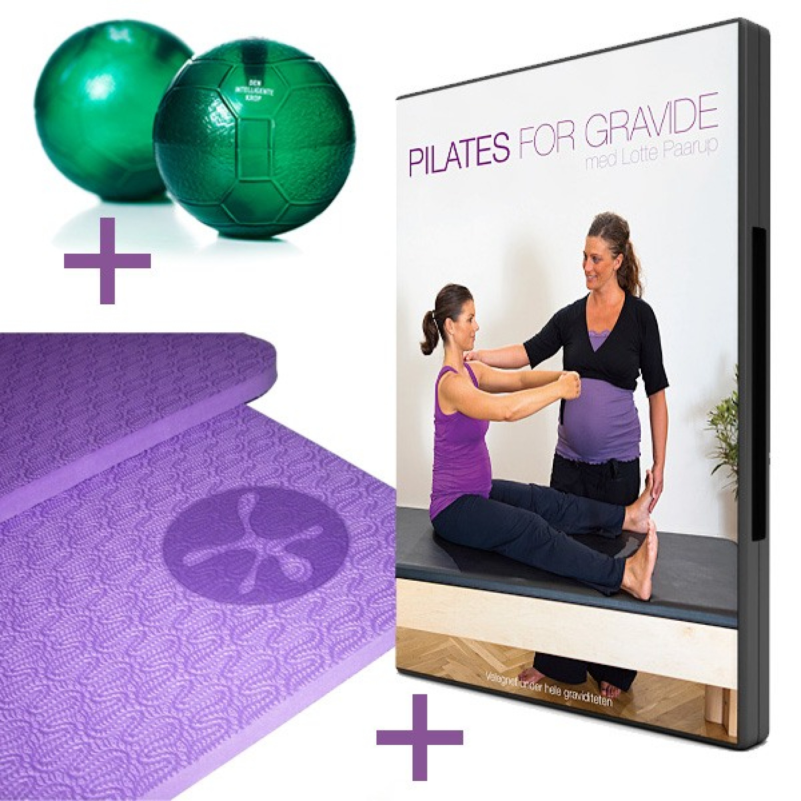 Pilates for gravide (DVD + Grønne bolde + Måtte)