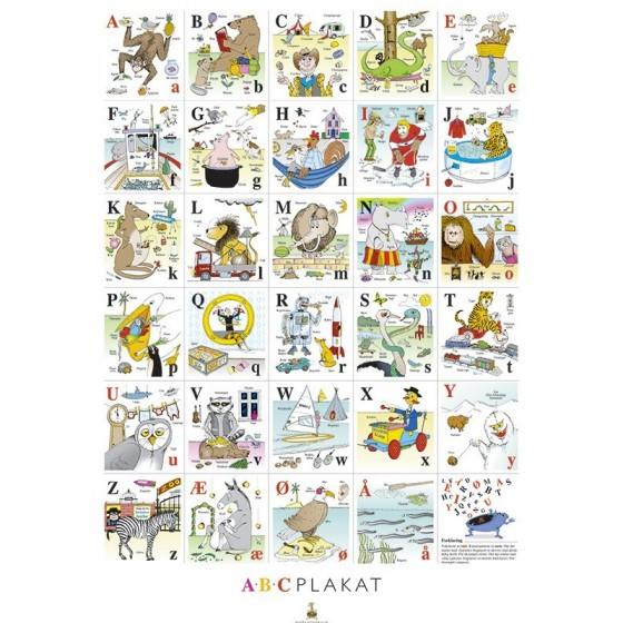 Abc-plakat og 123-plakat fra girafprodukter fra den intelligente krop
