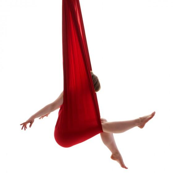 Image of   Aerial yoga hængekøje (stof + 2 stk. O-ringe)