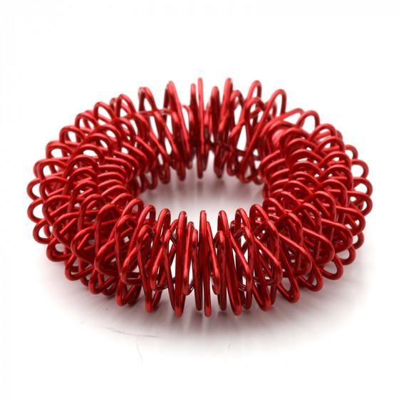 Akupressur ringe / finger roller (rød) fra den intelligente krop på den intelligente krop