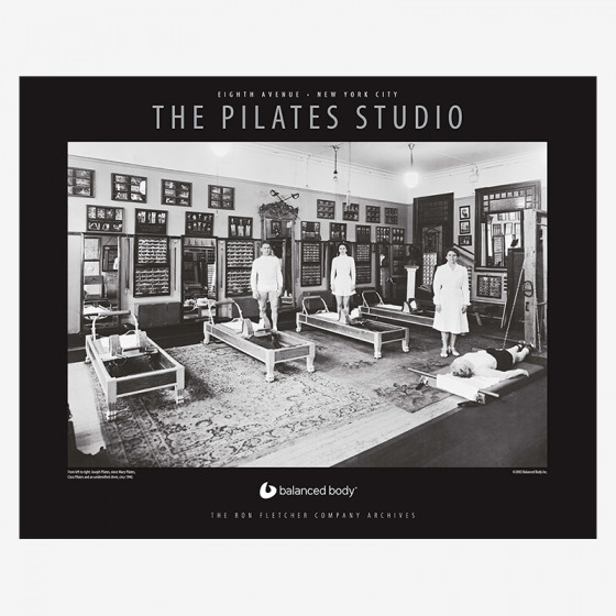 Original pilates studio poster fra balanced body på den intelligente krop