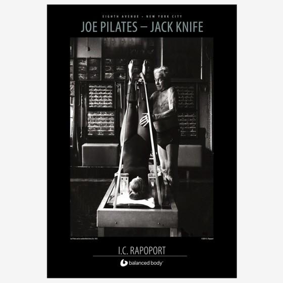 balanced body Joe pilates - jack knife poster på den intelligente krop