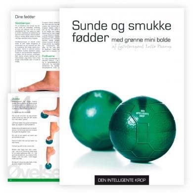 Sunde og smukke fødder med grønne mini bolde (excl. bolde)