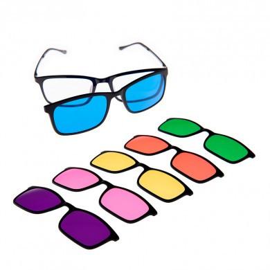 Farve terapi brille sæt