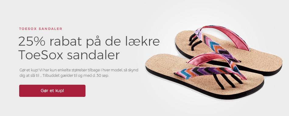 Forside - ToeSox sandal 25%